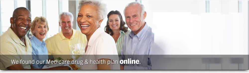 We found our Medicare drug and health plan online.